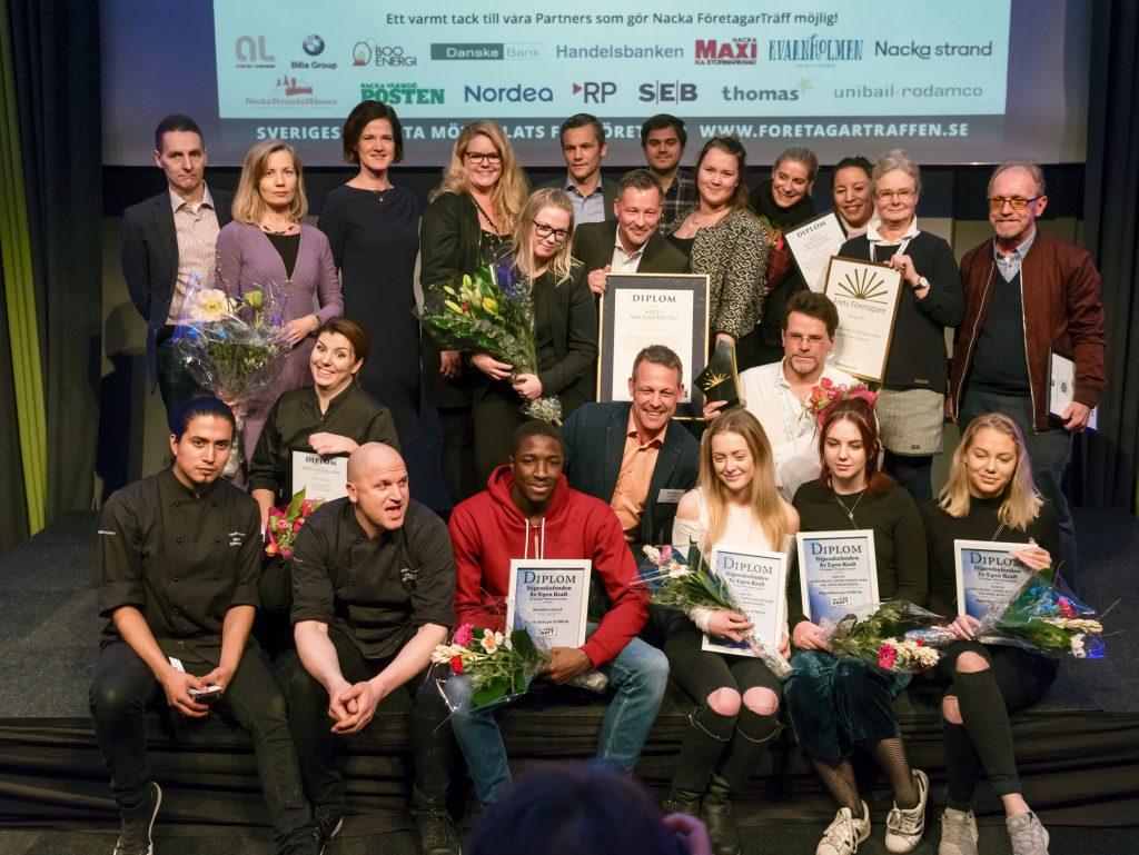 Pristagarna Nacka FöretagarTräff 2017