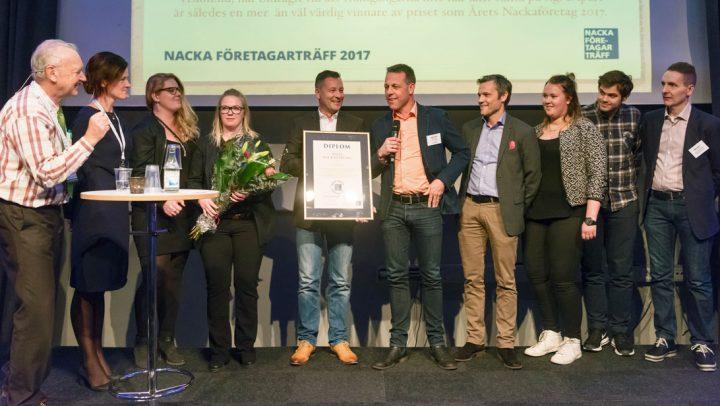 Tidigare vinnare – Årets företag 2017 – Dipart på prisutdelning 2017