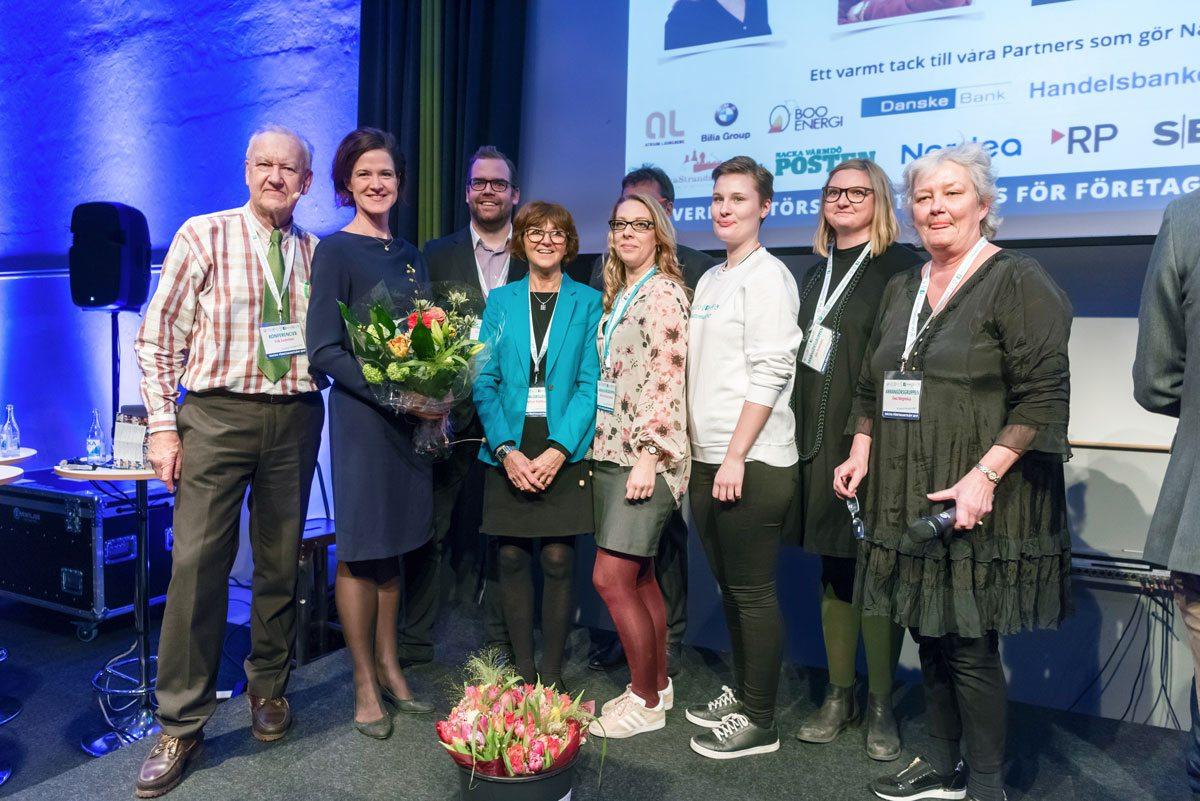 Nacka FÖretagarTräff 2017 arrangörsgruppen samlade på scen