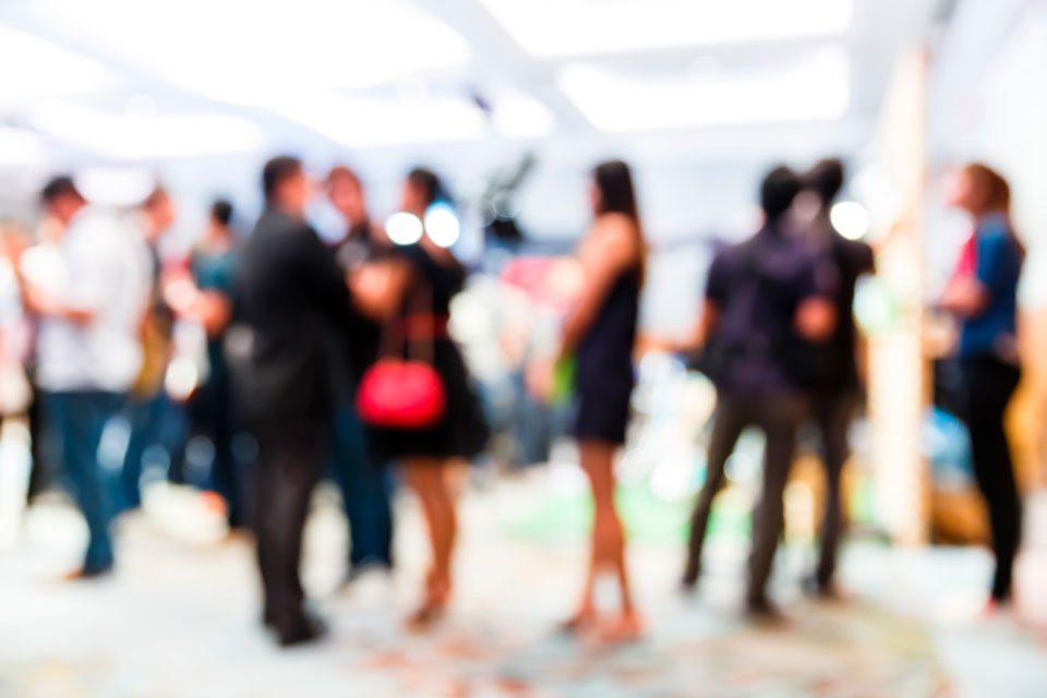 Nacka Företagarträff – Besökare – stående personer minglar