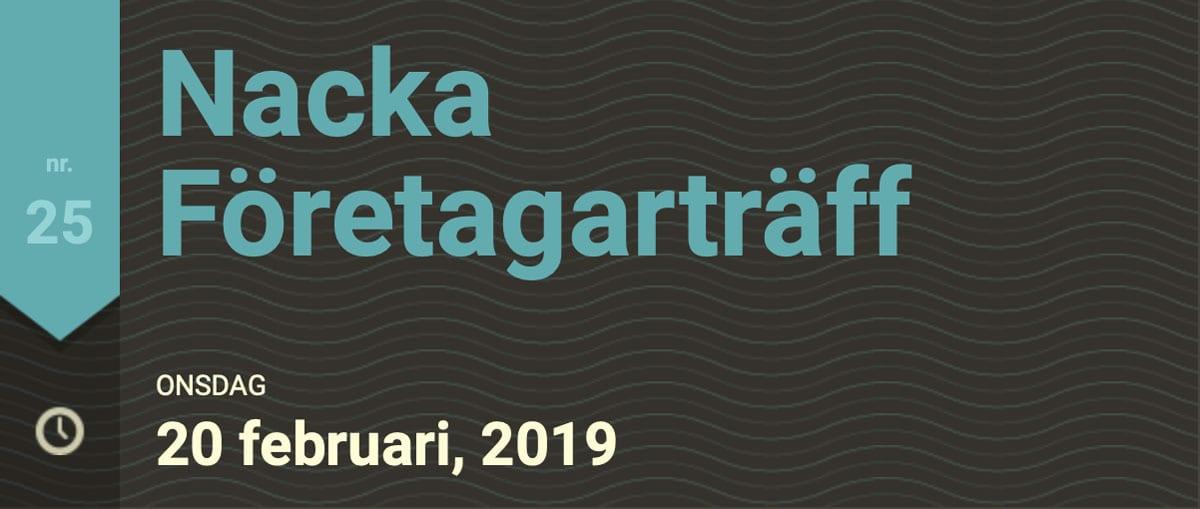 Nacka företgarträff 20 februari 2019