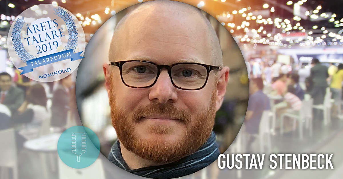 Gustav Stenbeck nominerad till årets talare 2019
