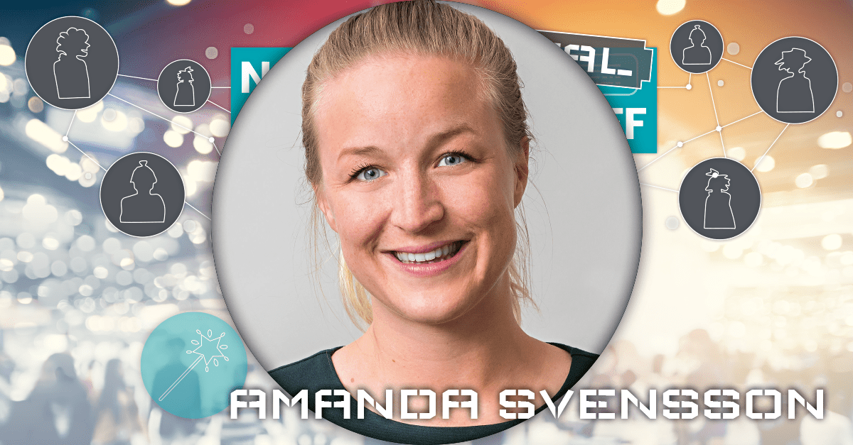 Moderator Amanda Svensson